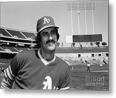 Rollie Fingers (1946- ) Metal Print by Granger
