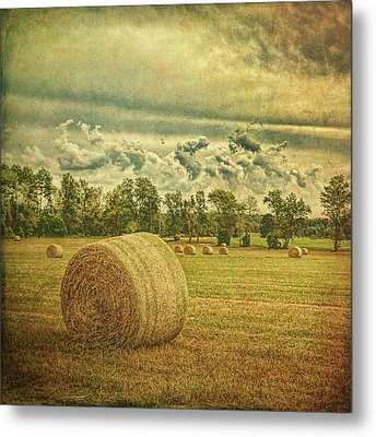 Metal Print featuring the photograph Rollin' Hay by Lewis Mann