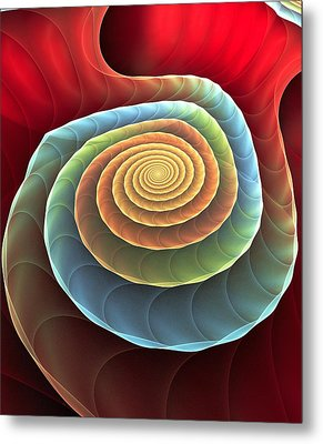 Metal Print featuring the digital art Rolling Spiral by Anastasiya Malakhova