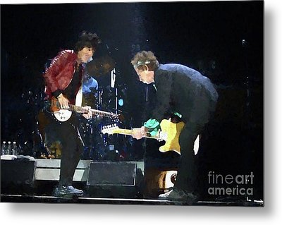 Rolling Stones Ron Wood Keith Richards Painting Metal Print