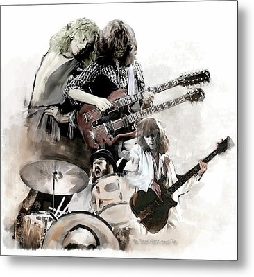 Rolling Thunder Led Zeppelin Metal Print by Iconic Images Art Gallery David Pucciarelli