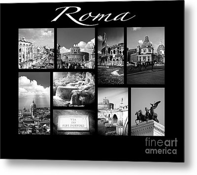 Roma Black And White Poster Metal Print by Stefano Senise