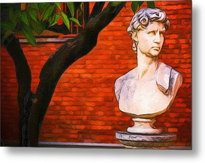 Roman Bust, Loyola University Chicago Metal Print by Vincent Monozlay