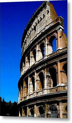 Roman Coliseum By Day Metal Print by Alberta Brown Buller