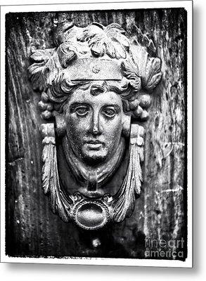 Roman Door Knocker Metal Print by John Rizzuto