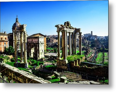 Roman Forum Metal Print by Alessandro Della Pietra