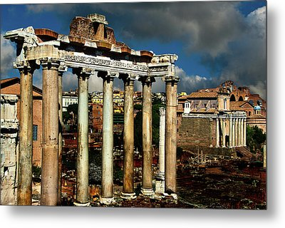 Metal Print featuring the photograph Roman Forum by Harry Spitz