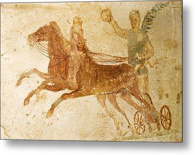 Roman Fresco, Ostia Antica Metal Print by Sheila Terry