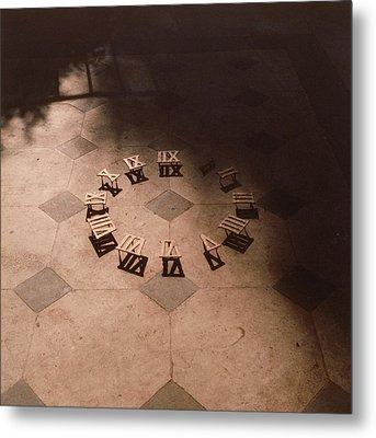 Roman Numerals On Floor Metal Print by Elspeth Ross