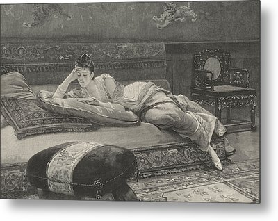 Romance And Repose Metal Print by English School