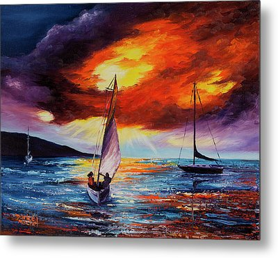 Metal Print featuring the painting Romancing The Sail by Darice Machel McGuire