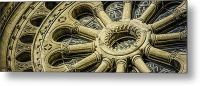 Romanesque Wheel Metal Print by Scott Norris