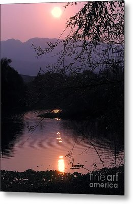Romantic Afternoon By The Lake Metal Print by Yali Shi