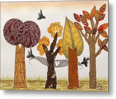 Romantic Autumnal Grove Metal Print by Graciela Bello