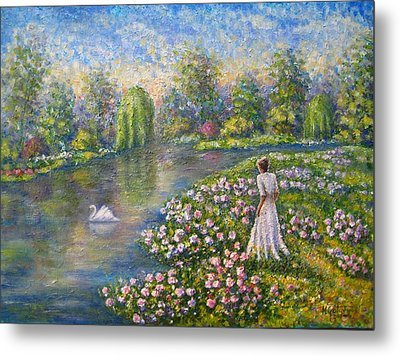 Romantic Lake Metal Print