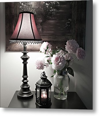 Romantic Nights Metal Print by Sherry Hallemeier