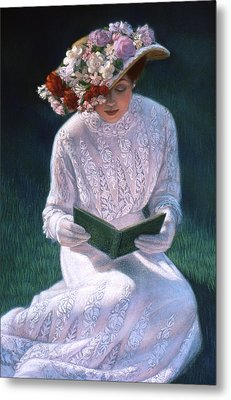 Metal Print featuring the painting Romantic Novel by Sue Halstenberg