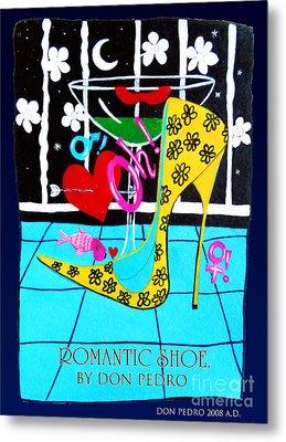 Metal Print featuring the painting Romantic Shoe by Don Pedro De Gracia