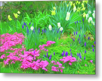 Metal Print featuring the photograph Romantic Skies Garden Escape by Aimee L Maher Photography and Art Visit ALMGallerydotcom