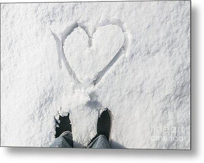 Romantic Snow Vacation Metal Print
