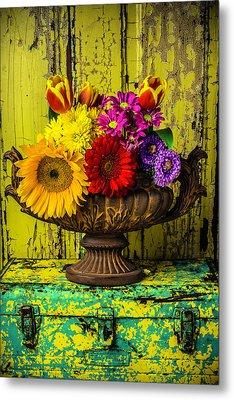 Romantic Vase Still Life Metal Print by Garry Gay