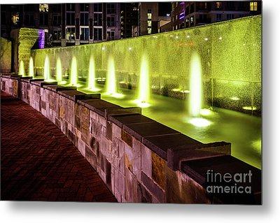 Romare Bearden Park Fountain In Charlotte Nc Metal Print by Paul Velgos