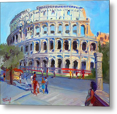 Rome Colosseum Metal Print by Ylli Haruni