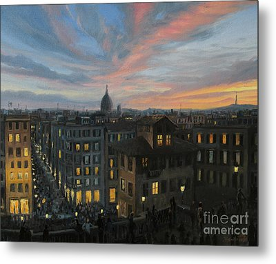 Rome In The Light Of Sunset Metal Print by Kiril Stanchev