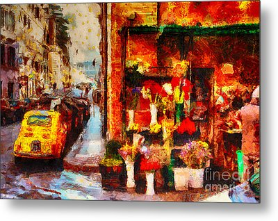 Rome Street Colors Metal Print by Stefano Senise