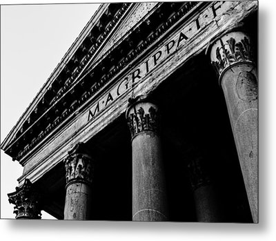Rome - The Pantheon Metal Print by Andrea Mazzocchetti