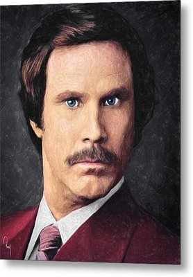 Ron Burgundy Metal Print
