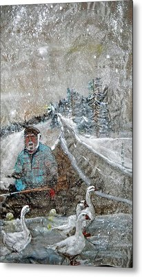 Metal Print featuring the painting Ron In A Rut by Debbi Saccomanno Chan