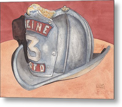 Rondo's Fire Helmet Metal Print by Ken Powers