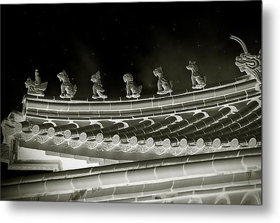 Roof National Palace Museum Taiwan City - Taipei  Metal Print by Christine Till
