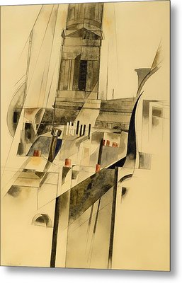 Roofs And Steeple Metal Print by Mountain Dreams