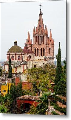 Rooftop View Of La Parroquia De San Miguel Arcangel Metal Print by Rob Huntley