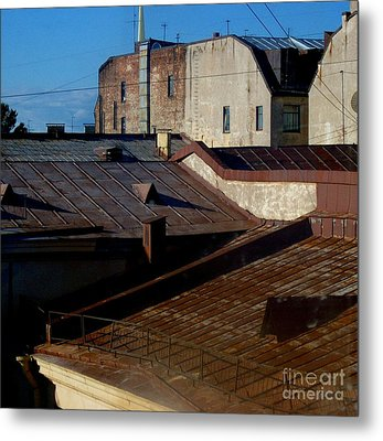 Metal Print featuring the photograph Rooftops From The Sauna by Robert D McBain