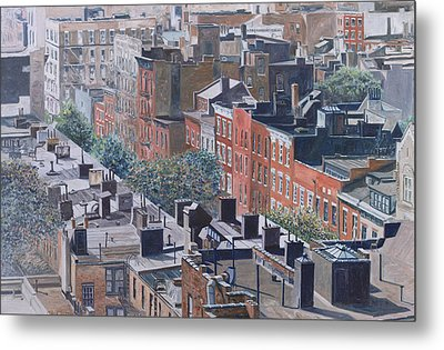 Rooftops Greenwich Village Metal Print by Anthony Butera