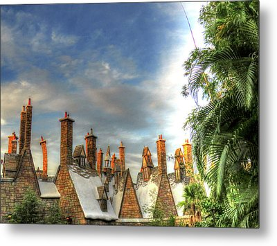 Metal Print featuring the photograph rooftops Hogsmeade by Tom Prendergast