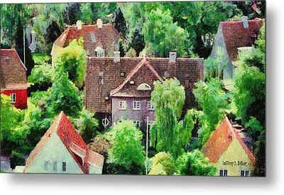 Rooftops Metal Print by Jeff Kolker