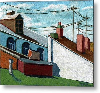 Rooftops Metal Print by Linda Apple
