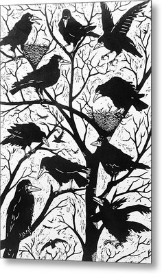 Rooks Metal Print by Nat Morley