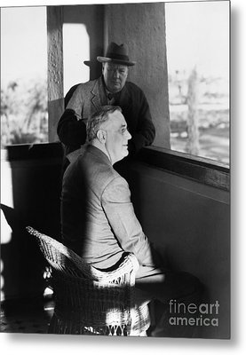 Roosevelt And Churchill Metal Print by Granger