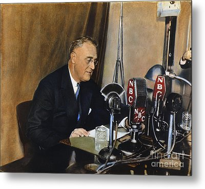 Roosevelt: Fireside Chat Metal Print by Granger