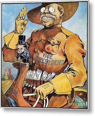 Roosevelt/mckinley Cartoon Metal Print by Granger