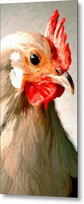 Metal Print featuring the digital art Rooster 2 by James Shepherd