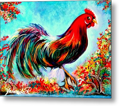 Rooster/gallito Metal Print