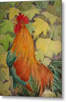 Rooster Metal Print by Laurianna Taylor