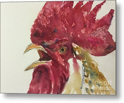 Rooster Metal Print by Yoshiko Mishina