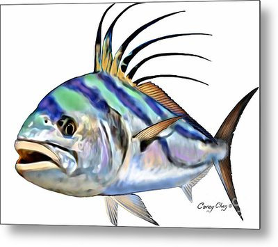 Roosterfish Digital Metal Print by Carey Chen